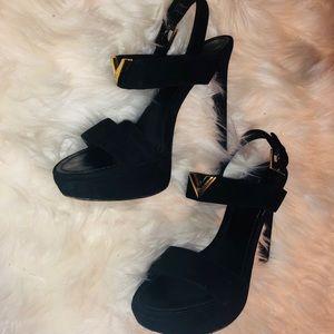 Black Suede Sandals by Louis Vuitton